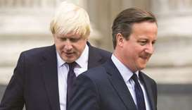 This 2015 file picture shows then-prime minister Cameron with then-London mayor Boris Johnson, who i