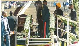 African leaders laud Mugabe at state funeral