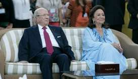 Beji Caid Essebsi and Chadlia Saida Farhat in Sweden on a state visit