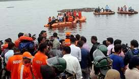 Rescue operations goes on after the boat capsized in the Godavari river