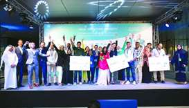 The winning participants during one of the previous instalments of the Arab Innovation Academy progr