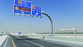 One of the interchanges opened on Al Khor road