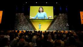 Leader of Britain's Liberal Democrats Jo Swinson