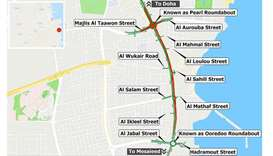 Partial traffic shift on Al Wakra Main Road