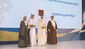 Msheireb Properties' Hamad al-Naemi receiving the award.