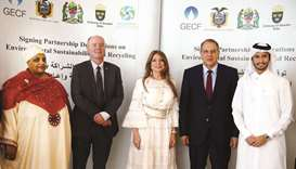 (From left) Fatma Mohamed Rajab, Anders Bengtcen, Ivonne A-Baki, Dr Yury Sentyurin and Abdallah al-S