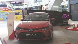 The Toyota Corolla 2020 showcased at Doha Festival City.