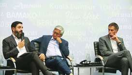 Mahmoud Qutub with Ambet Yuson and Federico Addiechi.