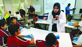 HBKU hosts 'Sustainability for Children' outreach programme