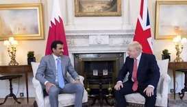 Amir, British PM hold talks on bolstering strategic ties