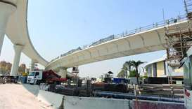 Work on Qatar's largest interchange 72% complete