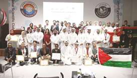 Officials and innovators at the closing ceremony.