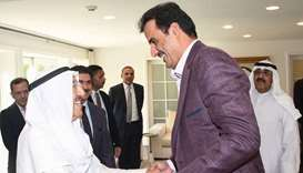 Amir visits Kuwaiti leader in New York