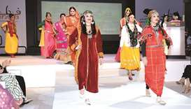 QF holds a fashion show-style celebration of Indian tradition.