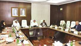 Qatar Chamber committee chairman Mohamed bin Ahmed al-Obaidli presiding over the meeting.
