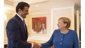 Amir, German Chancellor hold talks
