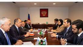FM meets Lavrov in New York
