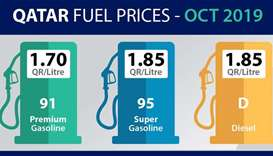 Qatar Petroleum announces fuel prices for October