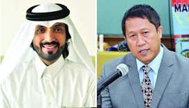 Qatar-Indonesia Business Council president Farhan al-Sayed and Hendra Hartono Turman