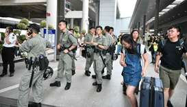 Hong Kong police check for air tickets to stop new airport protests