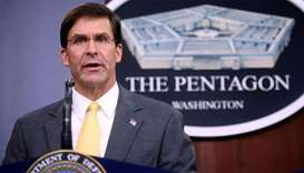 US Defense Secretary Mark Esper