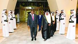 Angola president arrives in Doha