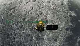 Vikram Lander before it is supposed to land on the Moon