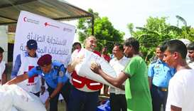 QRCS provides emergency aid for Nepal flood victims