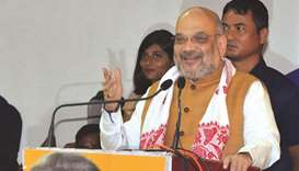Home Minister Amit Shah addresses the plenary session of the North Eastern Council in Guwahati yeste