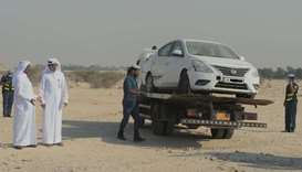 Abandoned vehicles removal campaign launched at Umm Slal