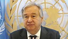 UN Secretary-General Antonio Guterres at the opening session.