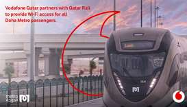 Vodafone Qatar, QRail partner to provide WI-FI access for all Doha Metro passengers