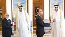 Amir honours envoys of  Greece, Kazakhstan