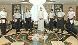 During the ceremony, HE the Chairman praised the achievements made by customs employees in securing
