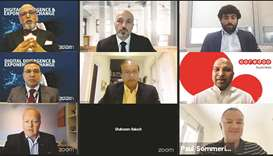 Dr Seetharaman and other speakers during the webinar.