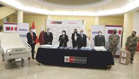 The Embassy of Qatar in the Republic of Peru has provided medical aid from Qatar Charity to Peru.