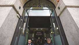 Vistors exit the Borsa Italiana in Milan (file). The London Stock Exchange entered exclusive talks t