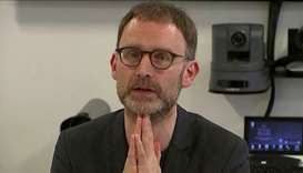 Epidemiologist Neil Ferguson speaks at a news conference in London, Britain January 22, in this stil