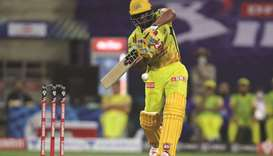Chennai Super Kings' Ambati Rayudu in action during the Indian Premier League opener against Mumbai
