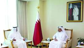 Al-Kuwari receives GCC delegation