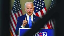 Joe Biden speaks at the National Constitution Center in Philadelphia
