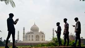 Taj Mahal is one of the most pictured monuments in the world.