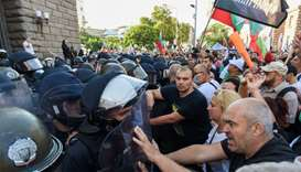 Thousands protest against Bulgarian government, scuffle with police