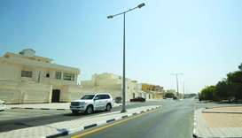The works included upgrading the street lighting system and the installation of new lighting poles.