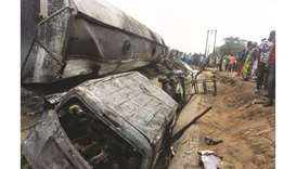 wreckage of a truck