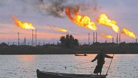 Oil fields in Basra, Iraq