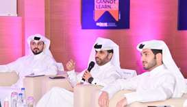 QDB CEO Abdulaziz bin Nasser al-Khalifa (centre) with other members of the panel.