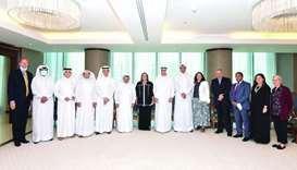 QBA chairman HE Sheikh Faisal bin Qassim al-Thani and Greta Holtz, the chargé d'affaires of the US e