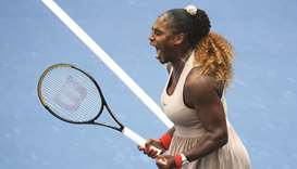 In this September 7, 2020, picture, Serena Williams of the United States celebrates winning her US O