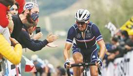 Frenchman Alaphilippe reaches career's pinnacle with world road race title